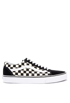 c8bd9e0ce8f Vans black Primary Check Old Skool Sneakers DF282SHDA6787BGS_1