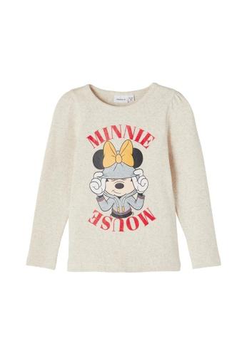 NAME IT white Minnie Mouse Long Sleeves T-Shirt E2438KA1E3B7B9GS_1