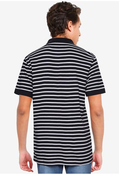 French Connection Popcorn Breton Stripe Short Sleeves Polo Shirt