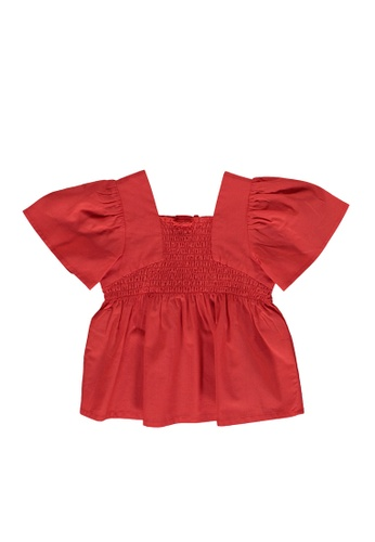 LC Waikiki red Baby Girl Cotton Smocked Blouse A0852KA3AB7877GS_1
