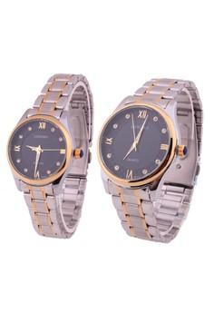 Laurence Couple Two-Tone Steel Watch