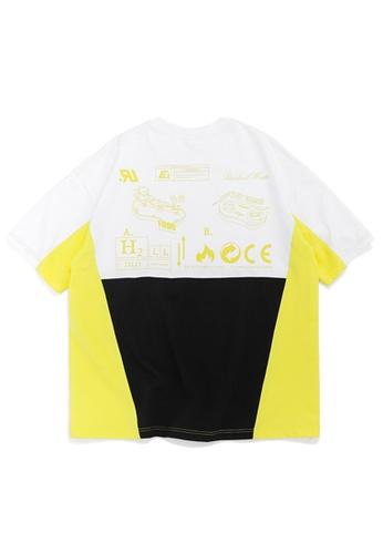 Twenty Eight Shoes Contrast Panel Print Short T-shirt 1057S20 48924AAC1EF27FGS_1