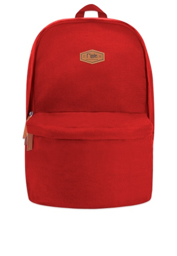 Ripples red Sienna Basic Canvas Backpack 81335AC011EFC4GS_1