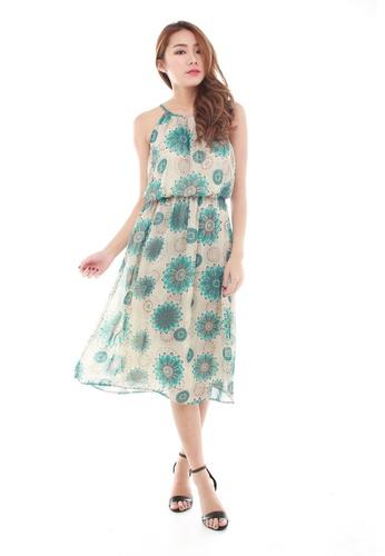 10fe9cf4b10a Sophialuv multi Marly Halter Midi Dress in Green Floral C1CD1AA6B17FE8GS 1
