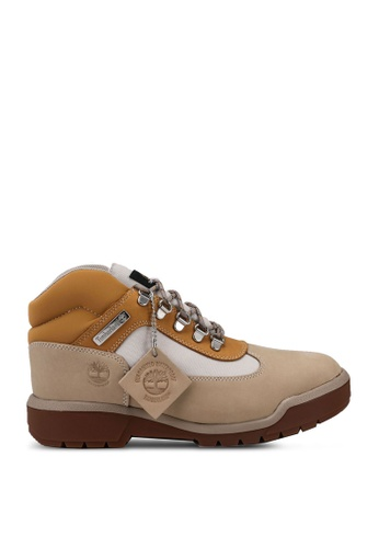 Timberland beige Field Boot Waterproof Leather and Fabric Mid Boots E387ASH254DEADGS_1