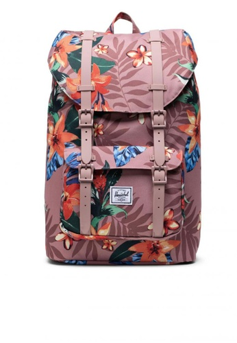 Herschel pink Backpack Little America Mid Summer Floral A48C4AC003AEB2GS_1