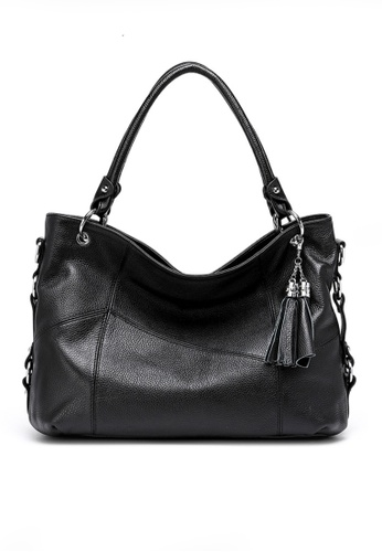 Twenty Eight Shoes black VANSA Pebbled Top Layer Cowhide Tote Bag VBW-Tb1201 A0F24AC7D3C610GS_1