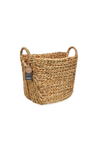 HOUZE ecoHOUZE Hyacinth Woven Basket With Handles DB590HLD32162BGS_1