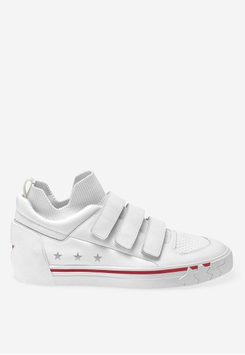 ASH white Neptune - White Strap Low-Top Sneakers F5961SHD69D571GS_1