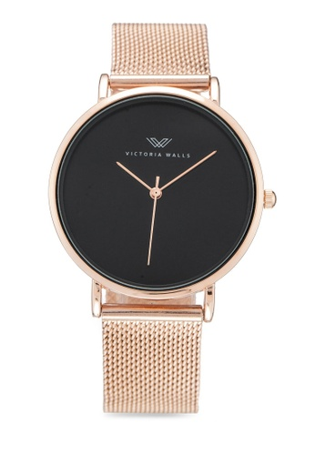 Victoria Walls Watches gold Designer Watch-Elegant Milanese Mesh Strap 37536AC9D4E496GS_1