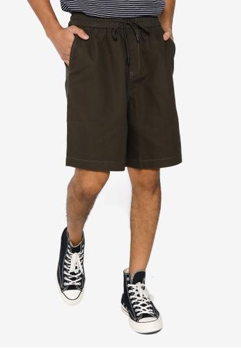 URBAN REVIVO green Men's Shorts 0F706AAA38C3FAGS_1