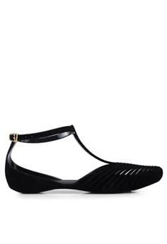 8fb2823ad2b Twenty Eight Shoes black Jelly Ankle Strap Ballet Flats 3003-1  B37CDSH08CC52FGS 1