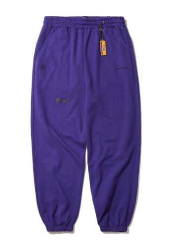 Fivecm purple Logo sweatpants 41EF9AA70B4D93GS_1