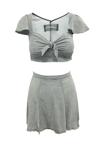 Reformation white reformation Checked Set B162CAA3737474GS_1