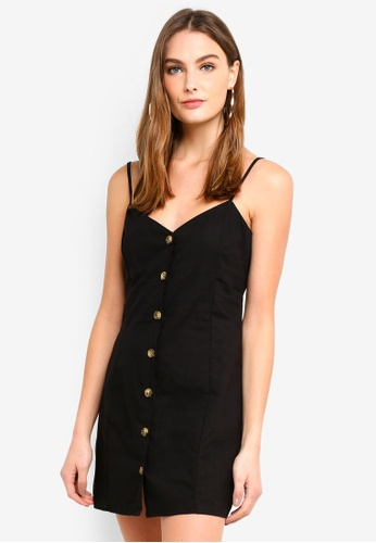 Factorie black Woven Button Through Dress 42597AAF09DAE5GS_1