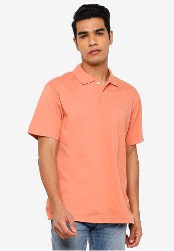 GAP orange Logo Jersey Polo Shirt 8C810AA367301FGS_1