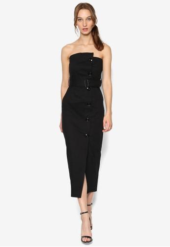 裹式抹胸連身裙, 服飾, esprit 香港 outlet洋裝