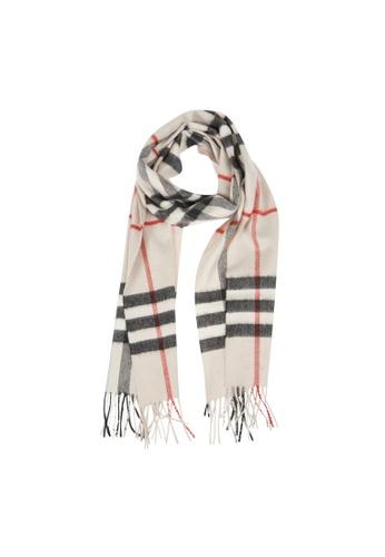 Burberry 米褐色 Burberry Classic Check Cashmere 圍巾(杏色,男女通用) 91E84ACBA3215AGS_1
