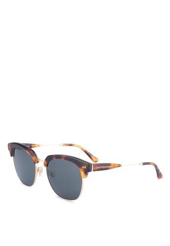 Kapten & Son black and brown Havana Sunglasses KA431GL0SF5SMY_1
