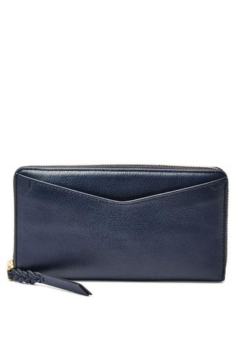 Fossil blue Fossil Caroline RFID Blue Leather Wallet SL7354406 FO164AC0SYONMY_1