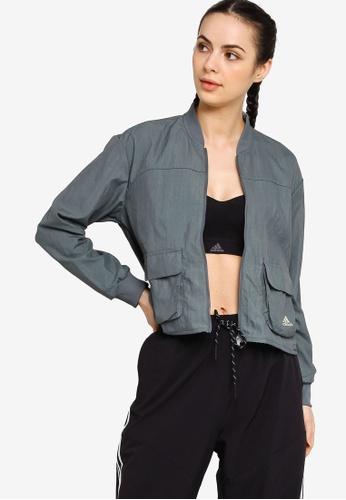 ADIDAS green u4u zoe saldana track jacket 71361AA27973C0GS_1