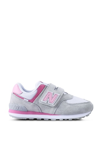New Balance grey 574 Kids Lifestyle Shoes F9BF2KSFA84DF0GS_1