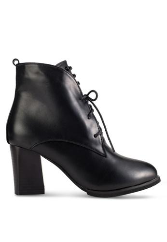 Sunnydaysweety black 2018 New Black Lace Up High Heel Boot A101113BK EEB66SHEAB4286GS_1