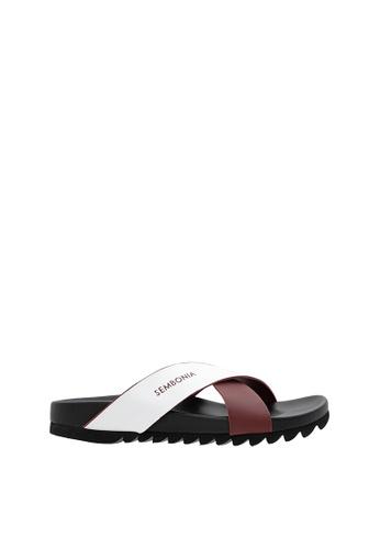 SEMBONIA red SEMBONIA Men Microfiber Sandal (Maroon) 6BC46SH213FC30GS_1