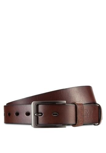 RAV Design brown 35mm Leather Belt RA113AC51LMEMY_1