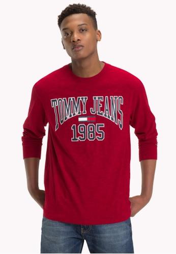 f09c700e Buy Tommy Jeans TJM COLLEGIATE LONGSLEEVE TEE Online on ZALORA Singapore