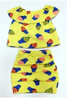 Keira Off-shoulder and Skirt Set