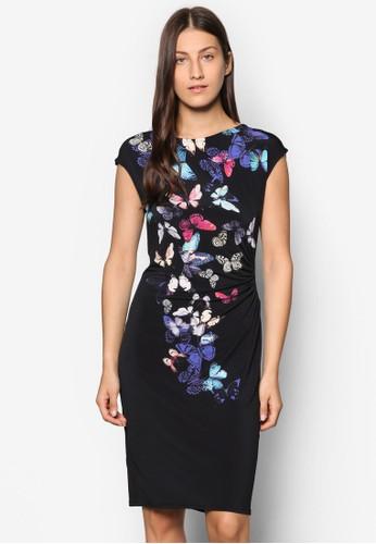 蝴蝶印花連身裙,esprit 童裝 服飾, 洋裝