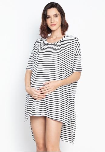 cad00751c6a54 Shop Amelia Maternity Nautical Shirt Dress Online on ZALORA Philippines
