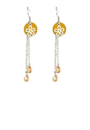 Glamorousky orange Trendy Earrings 06C82ACD333B08GS_1