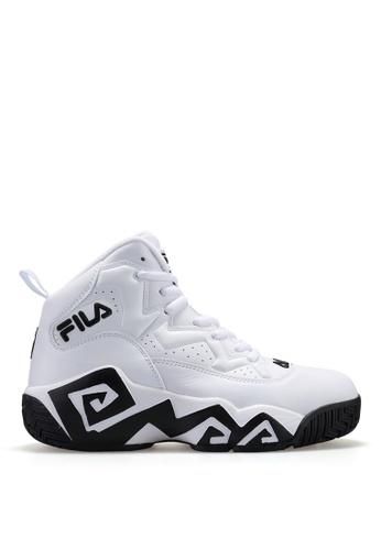 FILA white FILA MB1-W Leather Sport Shoe CA69BSHE32F56DGS_1