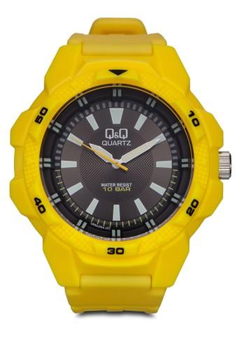 VR54J004Y 運動風厚框圓zalora 泳衣錶, 錶類, 飾品配件