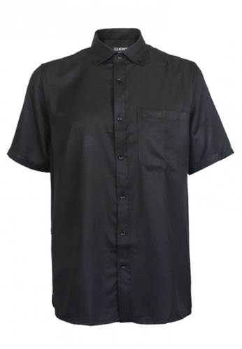 Platinum black Platinum Big Size Plain Microfiber Shirt 1XL-6XL Plus size PM8239 (Black) 0FB03AA151FE06GS_1