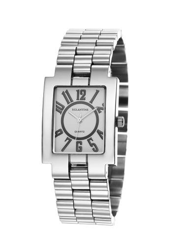 EGLANTINE silver EGLANTINE® Rectangolo Ladies Steel Quartz Watch White Dial on Steel Bracelet 7D2E5AC7772CF0GS_1