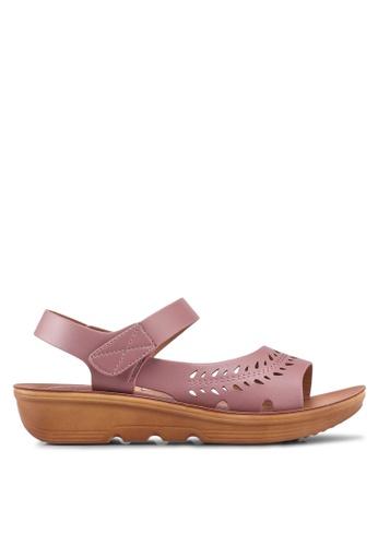 Noveni 紫色 休閒涼鞋 92AA3SH8C2FE57GS_1