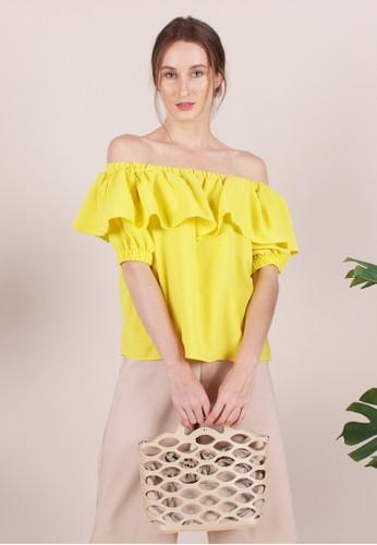MAGNOLIA yellow Rosalinda Blouse 26860AA9D6390EGS_1