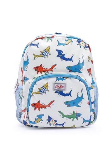 Cath Kidston white Sharks Large Backpack with Mesh Pocket E016DKCDCDF767GS_1