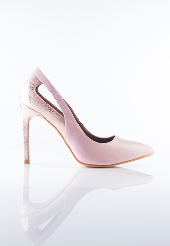 Stilaré pink Allure Snakeskin Heels in Pink 06026SH5DD2DACGS_1