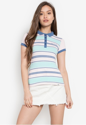 Stylistic Mr. Lee multi Striped Classic Textured Polo Shirt MR206AA0KEULPH_1