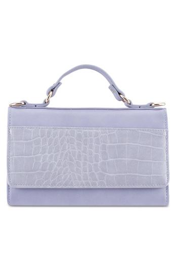 ZALORA purple Crocco Flap Top Handle Wallet 0A092ZZC56D7BCGS_1