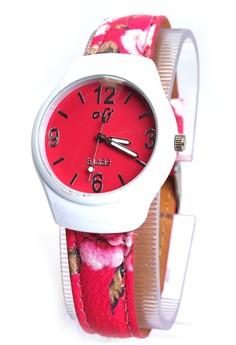OLJ Flowie Women's Leather Strap Watch B1682