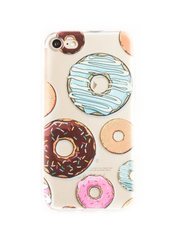 Fancy Cellphone Cases multi Donuts Soft Transparent Case for iPhone 7 FA644AC90JQNPH_1