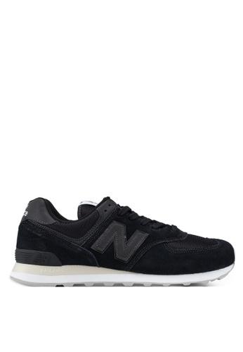 New Balance black 574 Lifestyle Classic Tonal Shoes AAD3ASH9C12027GS_1