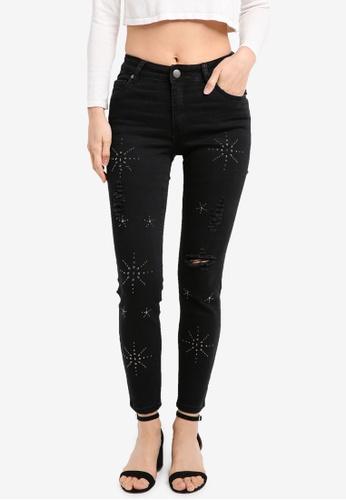 Cotton On black Mid Rise Grazer Skinny Jeans CO372AA0SXKOMY_1