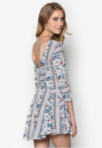 Vilma 印花挖背傘狀esprit 童裝裙擺, 服飾, 洋裝