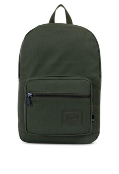 ffc1e48c342b Herschel green Pop Quiz Cotton Canvas Backpack HE958AC0KA2XPH 1